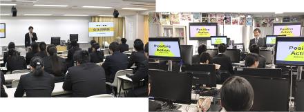 さまざまなゲーム会社による学内企業説明会