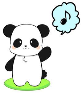 あいさつパンダ